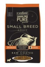 CANIDAE PET FOODS CANIDAE DOG PURE SMALL BREED RAW COATED CHICKEN 4LBS