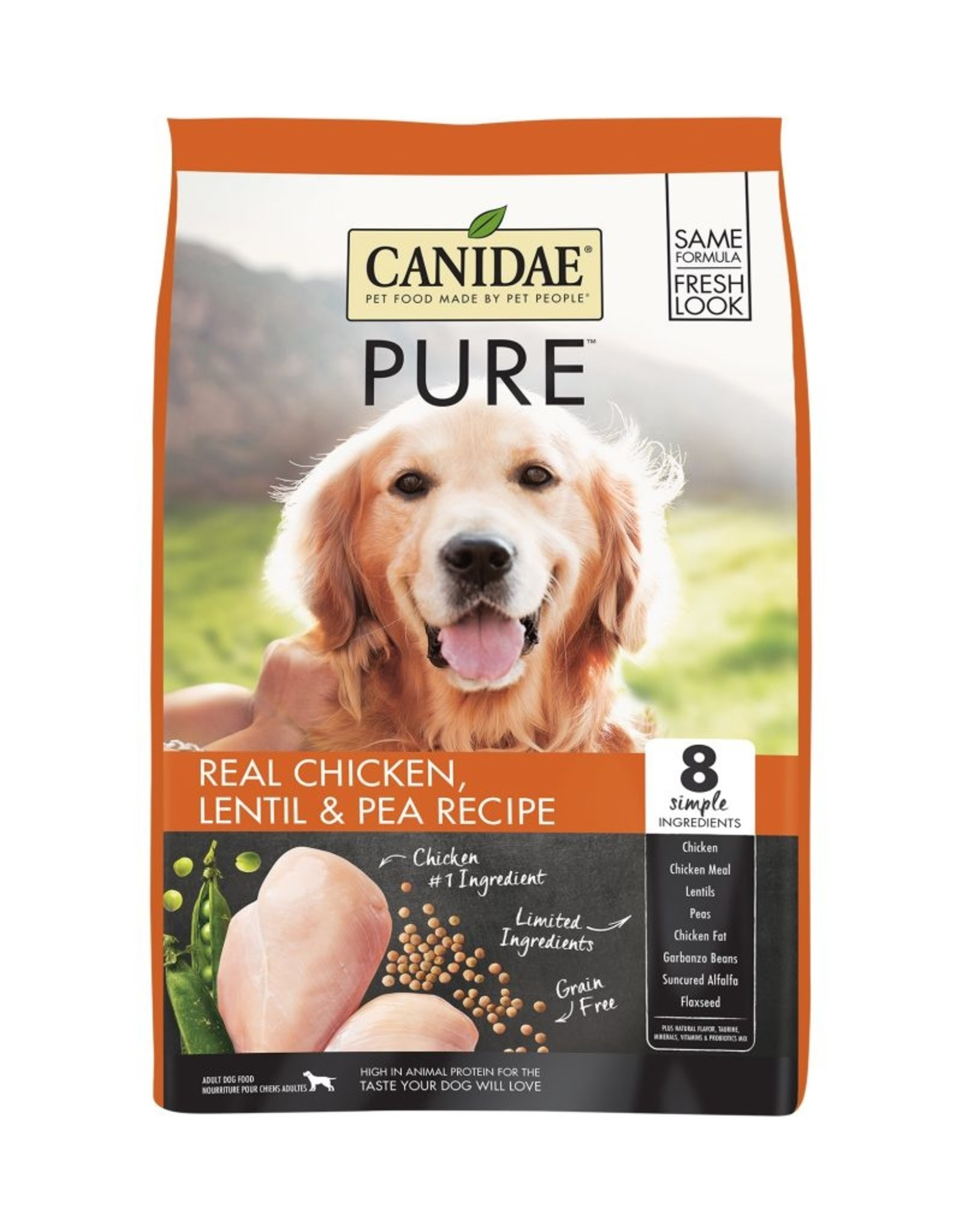 CANIDAE PET FOODS CANIDAE DOG GRAIN FREE PURE CHICKEN 24LBS