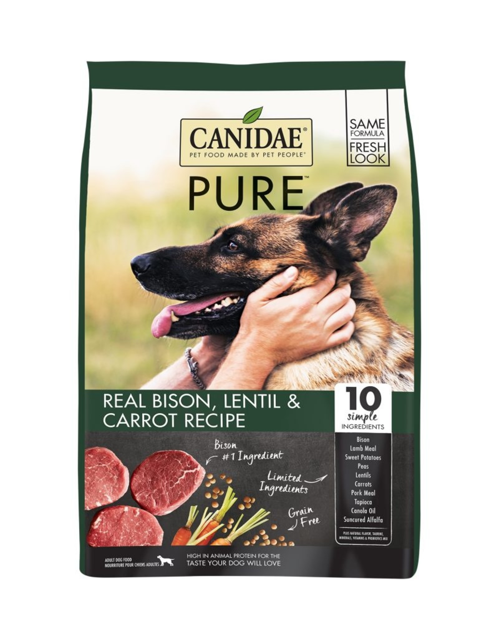 CANIDAE PET FOODS CANIDAE DOG GRAIN FREE PURE BISON 21LBS