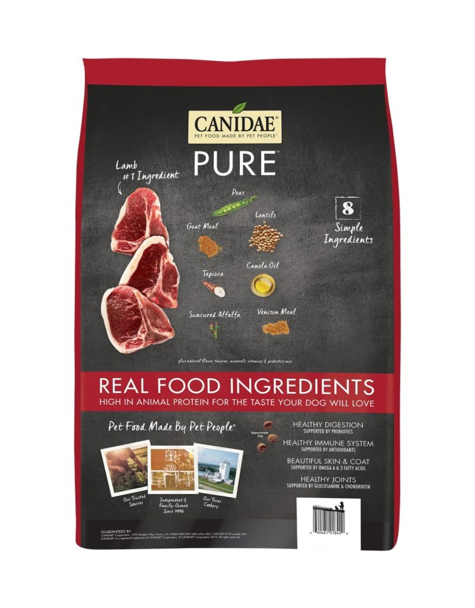 CANIDAE PET FOODS CANIDAE DOG GRAIN FREE PURE LAMB, GOAT, & VENISON 24LBS