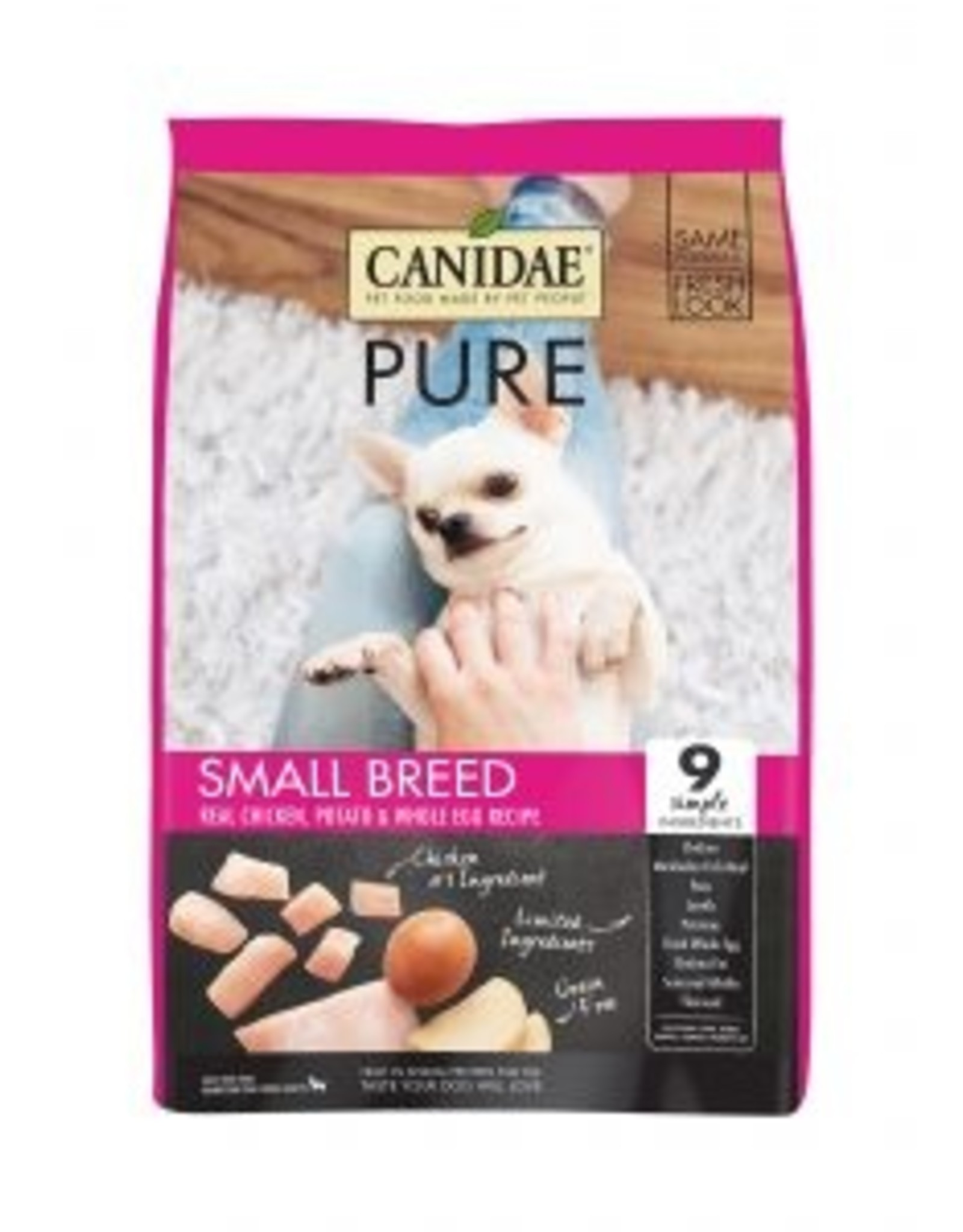 CANIDAE PET FOODS CANIDAE DOG GRAIN FREE PURE SMALL BREED ADULT 4LBS