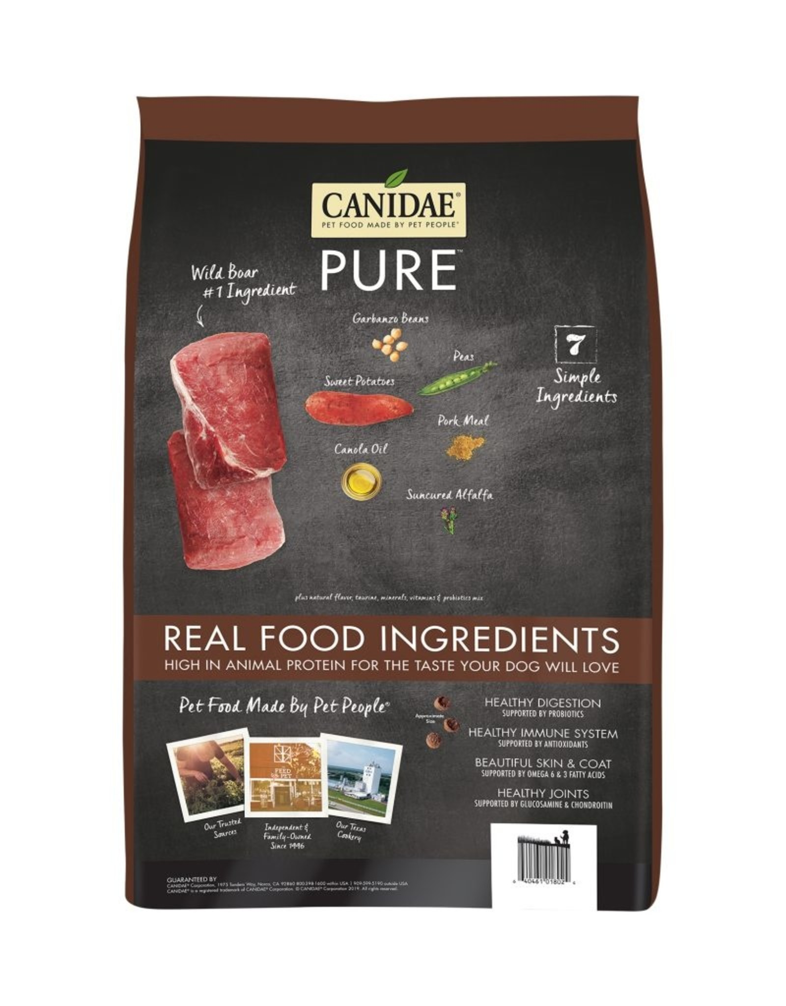 CANIDAE PET FOODS CANIDAE DOG GRAIN FREE PURE WILD BOAR 24LBS