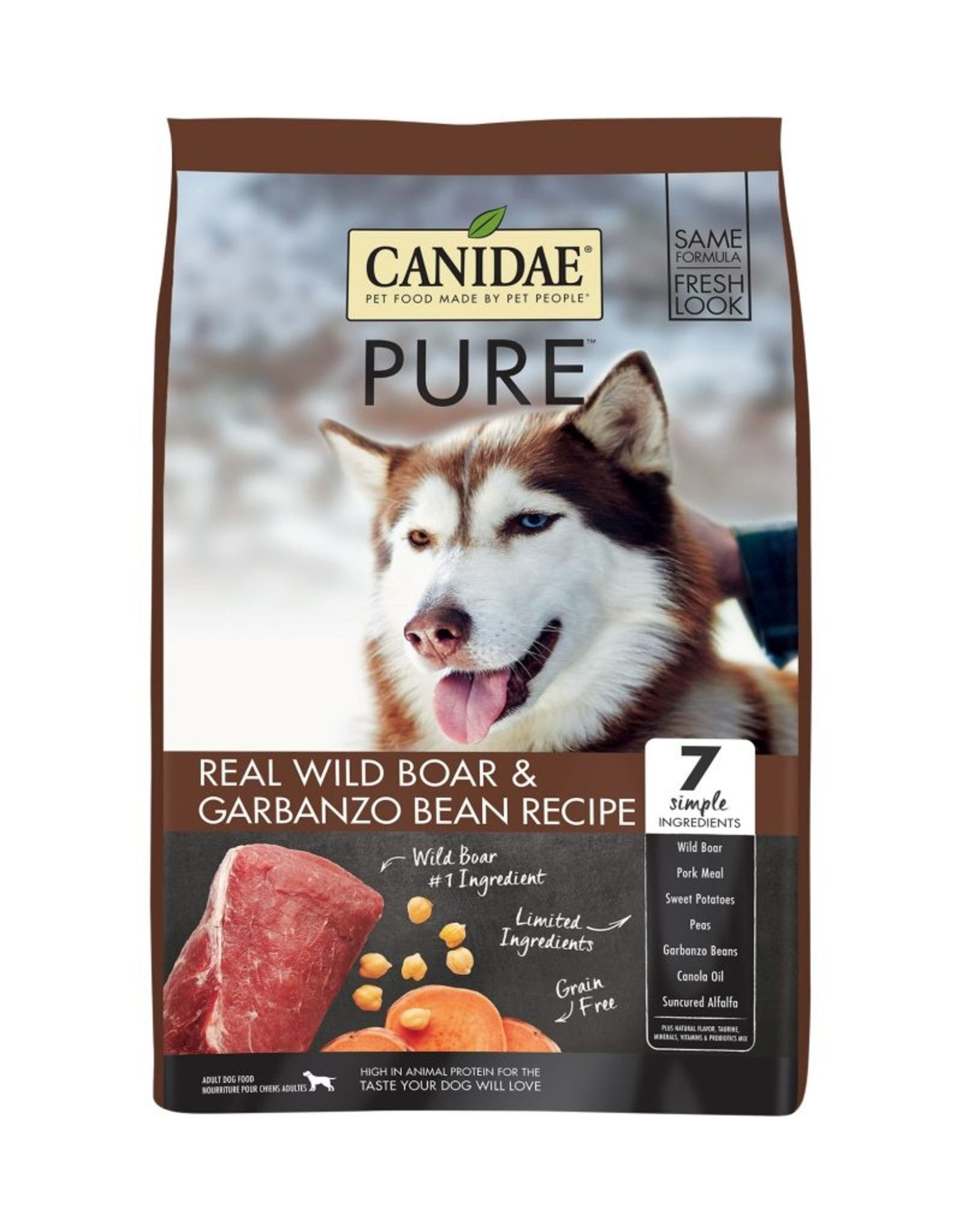 CANIDAE PET FOODS CANIDAE DOG GRAIN FREE PURE WILD BOAR 12LBS