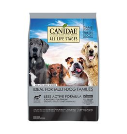 CANIDAE PET FOODS CANIDAE DOG PLATINUM LESS ACTIVE SENIOR 30LBS