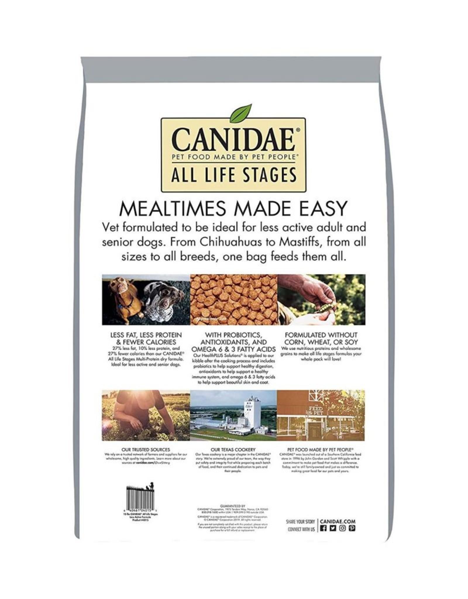 CANIDAE PET FOODS CANIDAE DOG PLATINUM LESS ACTIVE SENIOR 15LBS