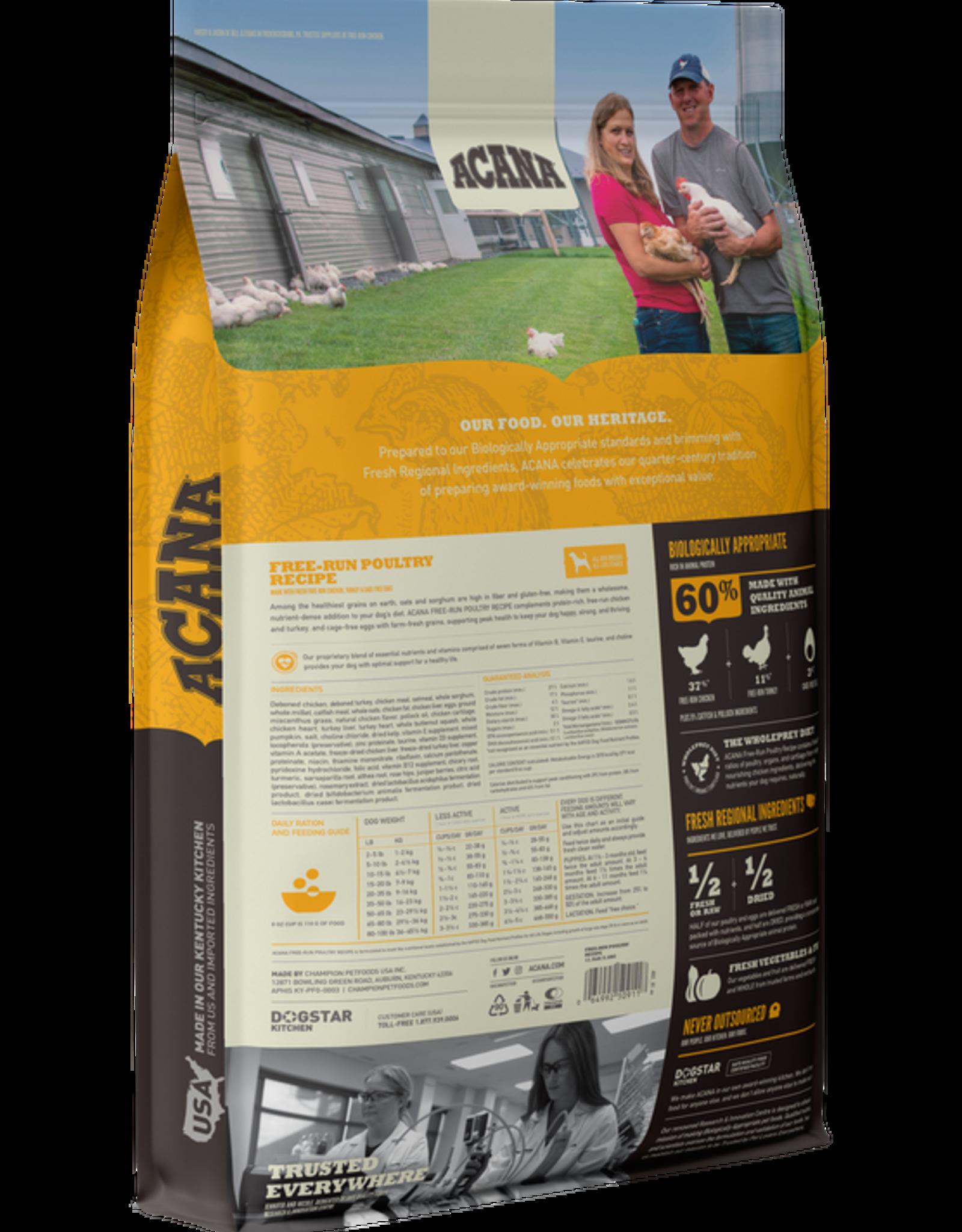 CHAMPION PET FOOD ACANA POULTRY & GRAINS 11.5LBS