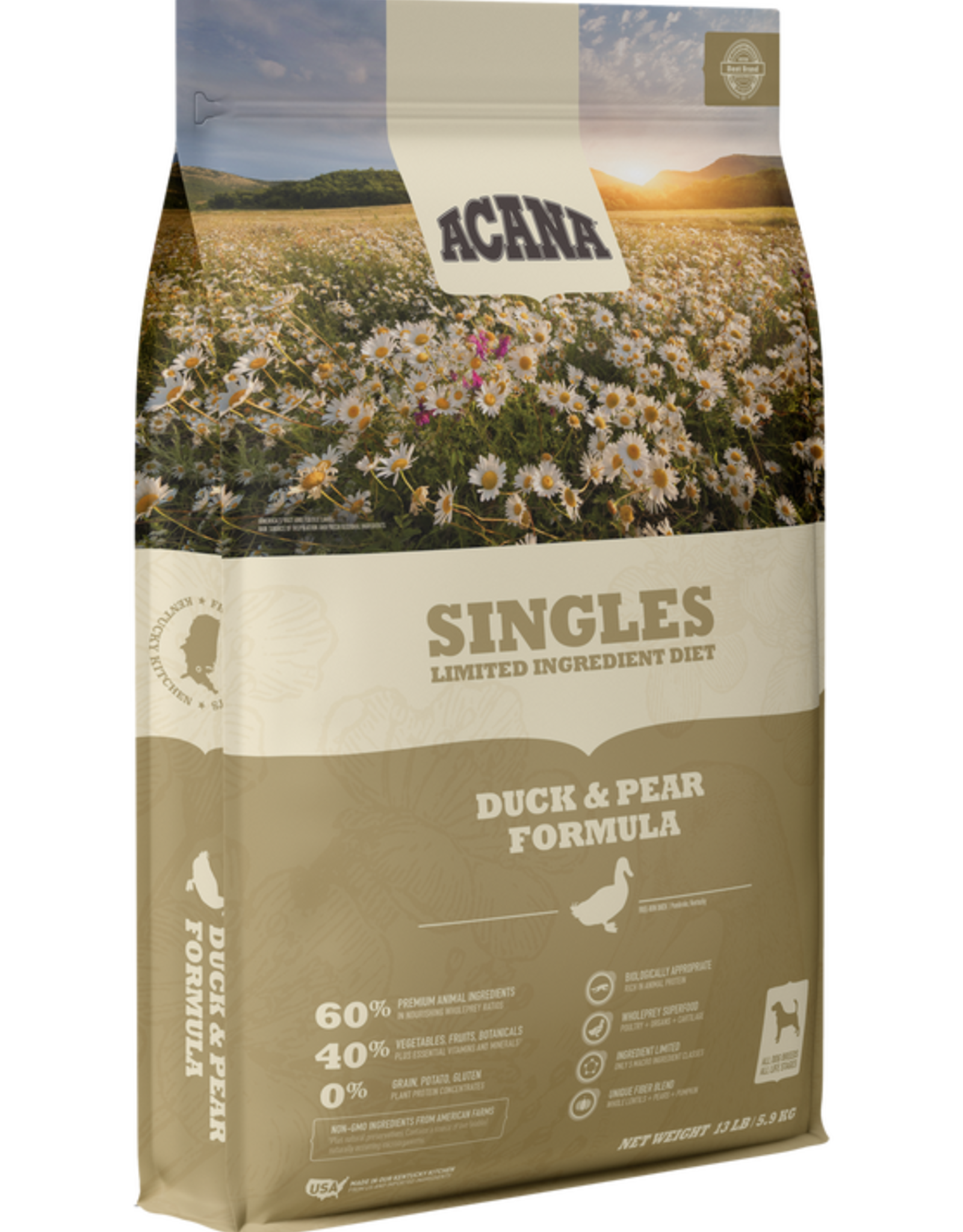 CHAMPION PET FOOD ACANA DUCK & PEAR SINGLES 4.5LBS