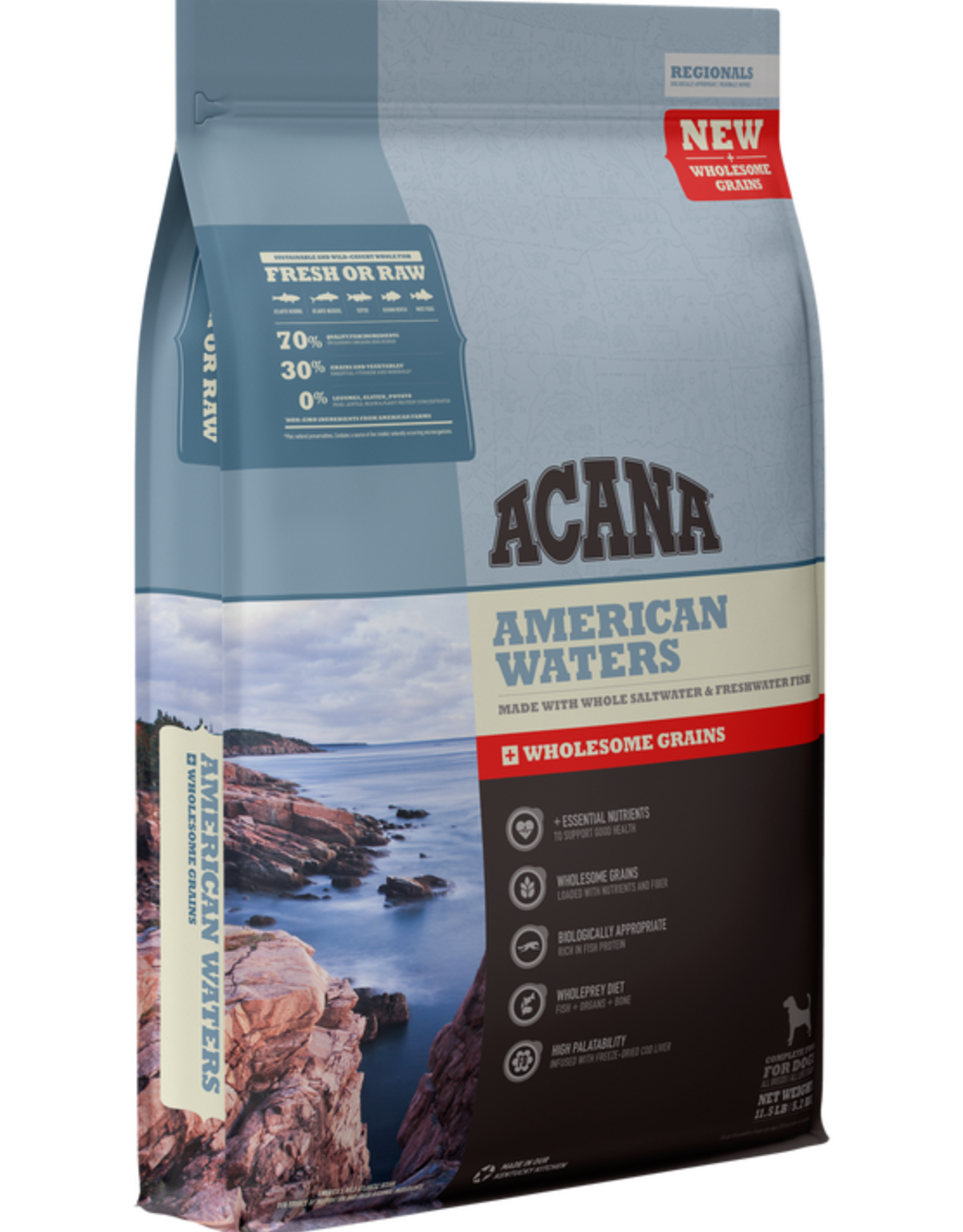 CHAMPION PET FOOD ACANA AMERICAN WATERS WHOLESOME GRAINS 4#