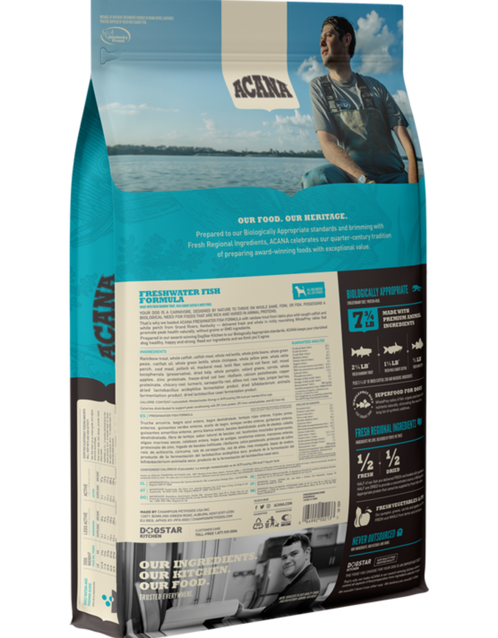CHAMPION PET FOOD ACANA DOG FRESHWATER FISH 4.5LBS