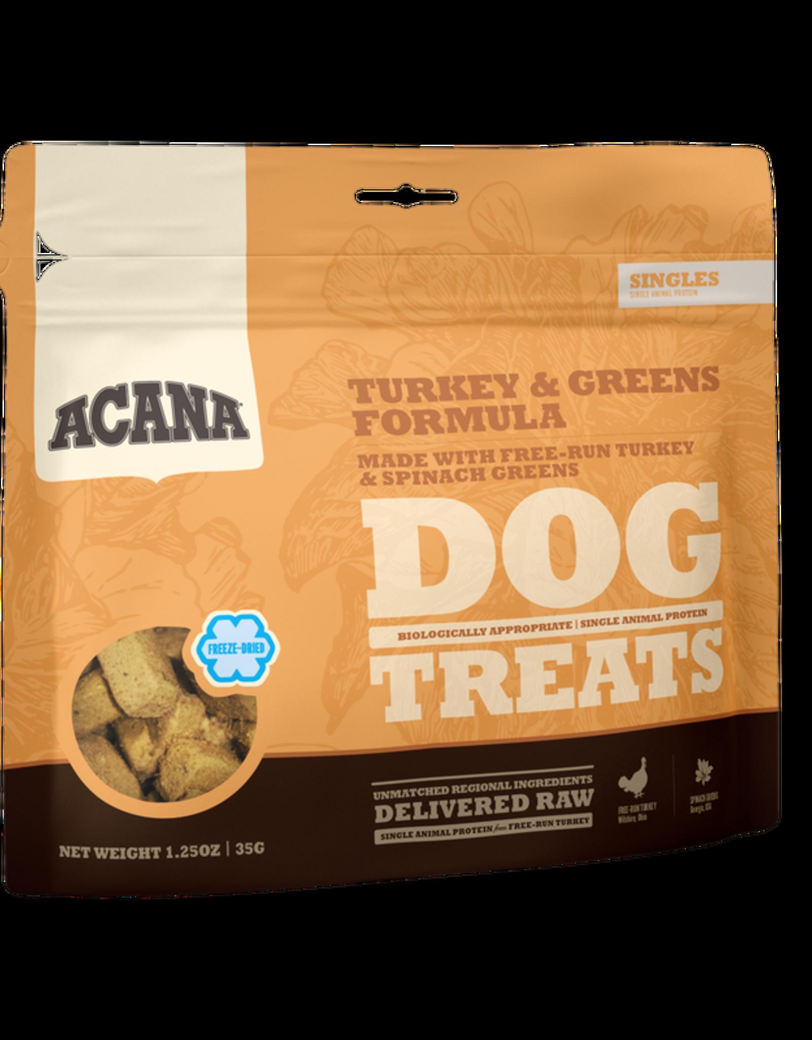CHAMPION PET FOOD ACANA TURKEY & GREENS TREAT 3.25OZ PD