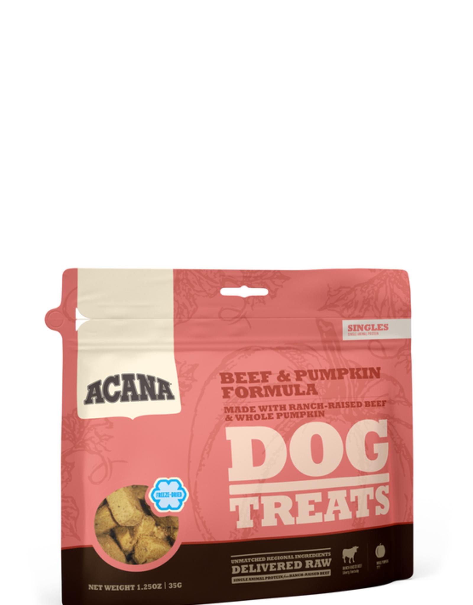 CHAMPION PET FOOD ACANA BEEF & PUMPKIN TREAT 1.5OZ