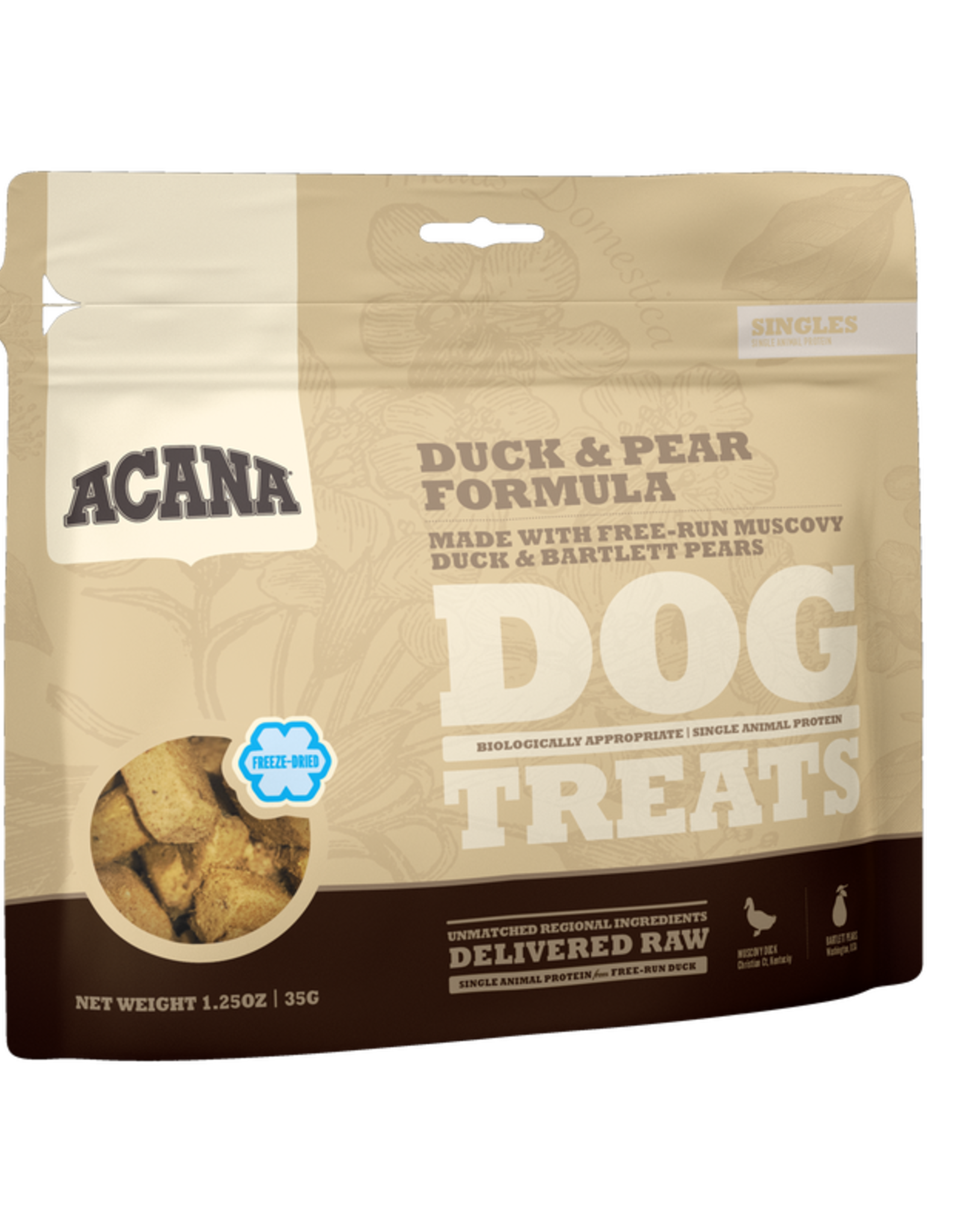 CHAMPION PET FOOD ACANA FREEZE DRIED DUCK & PEAR TREAT 1.25OZ