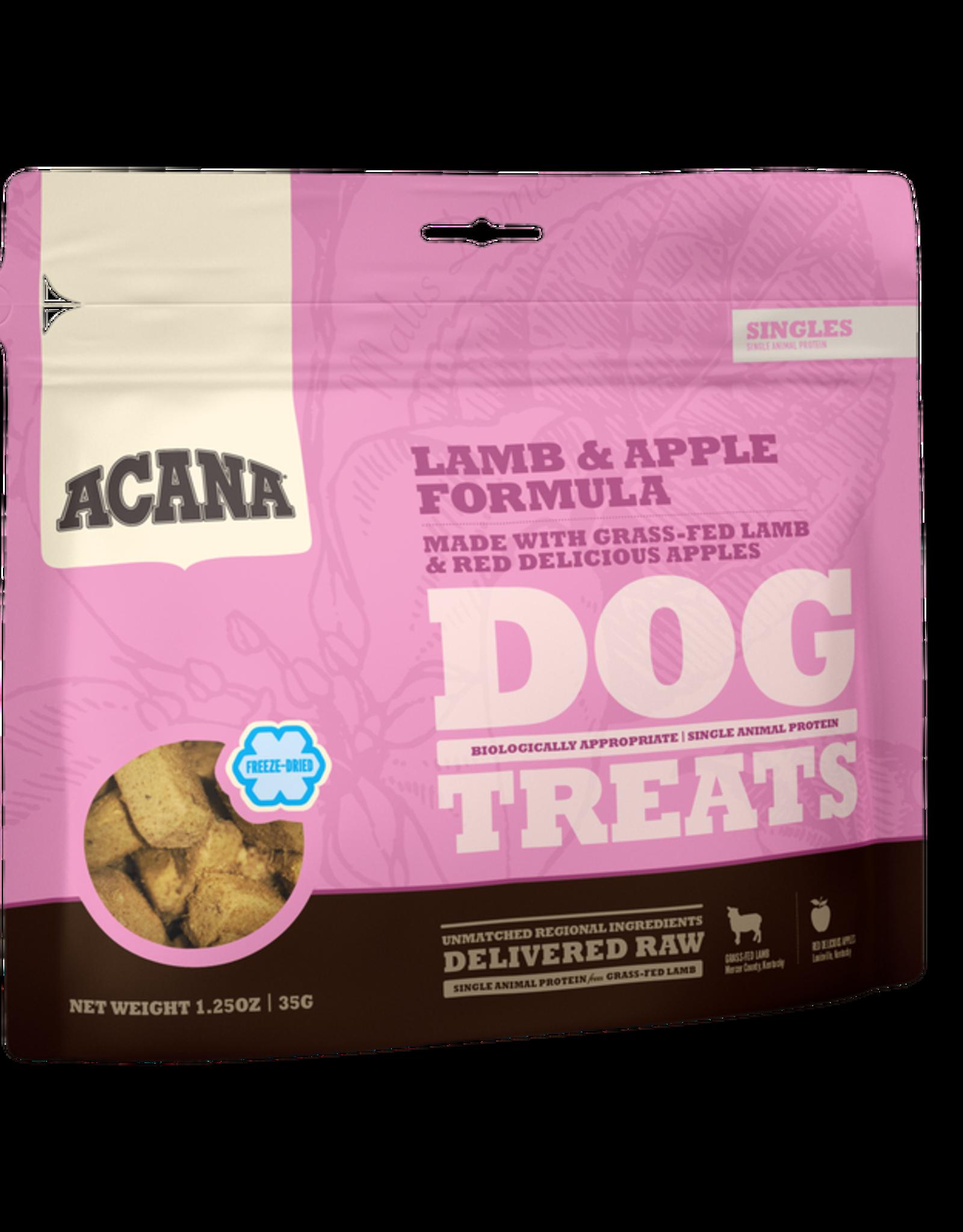 CHAMPION PET FOOD ACANA FREEZE DRIED LAMB & APPLE TREAT 1.25OZ