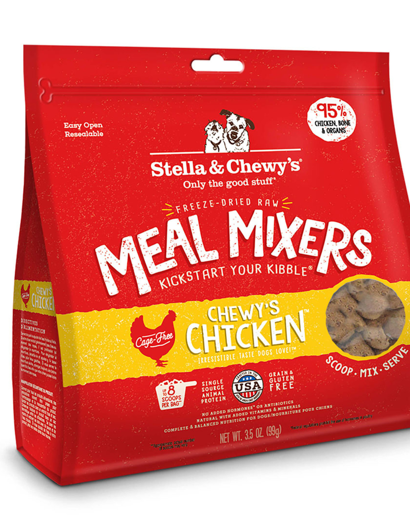 STELLA & CHEWY'S LLC STELLA & CHEWY'S FREEZE-DRIED CHEWY'S CHICKEN MEAL MIXERS 8OZ