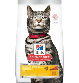 HILL'S HILL'S SCIENCE DIET FELINE ADULT URINARY/HAIRBALL CONTROL 15.5LBS