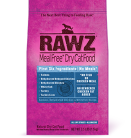 RAWZ RAWZ CAT SALMON, CHICKEN & WHITE FISH 3.5LBS