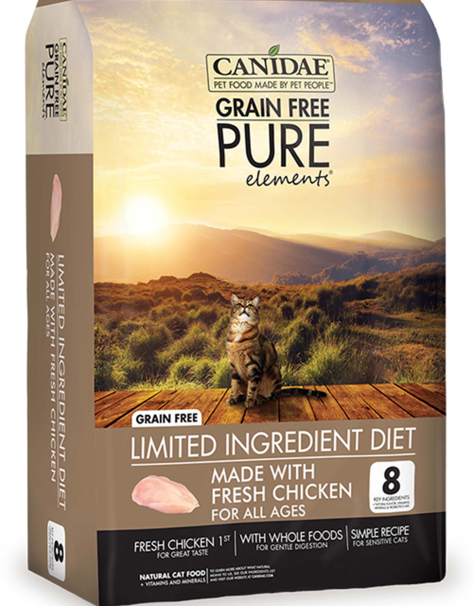CANIDAE PET FOODS CANIDAE CAT PURE ELEMENTS LID CHICKEN 5#