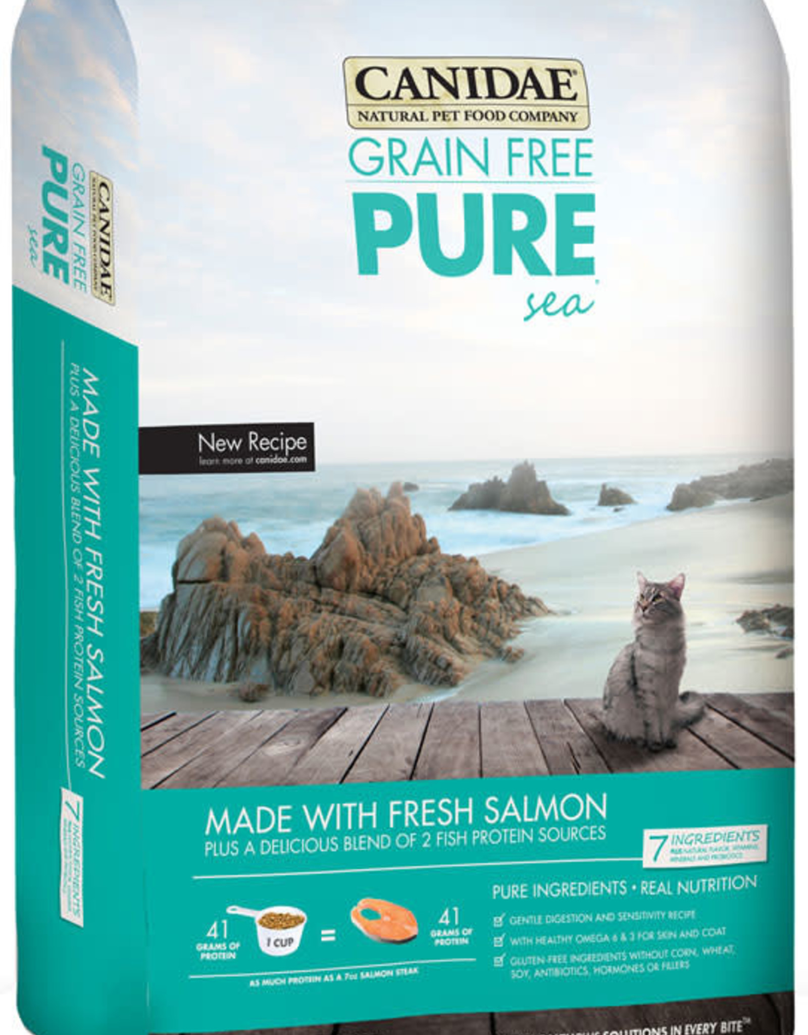CANIDAE PET FOODS CANIDAE CAT PURE SEA LID SALMON 2.5# DISCONTINUED