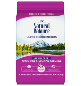 NATURAL BALANCE PET FOODS, INC NATURAL BALANCE CAT GREEN PEA & VENISON 4.5LBS