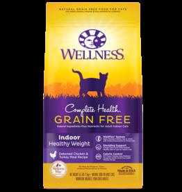 WELLPET LLC WELLNESS CAT GRAIN FREE HEALTHY WEIGHT INDOOR CHICKEN 5LBS