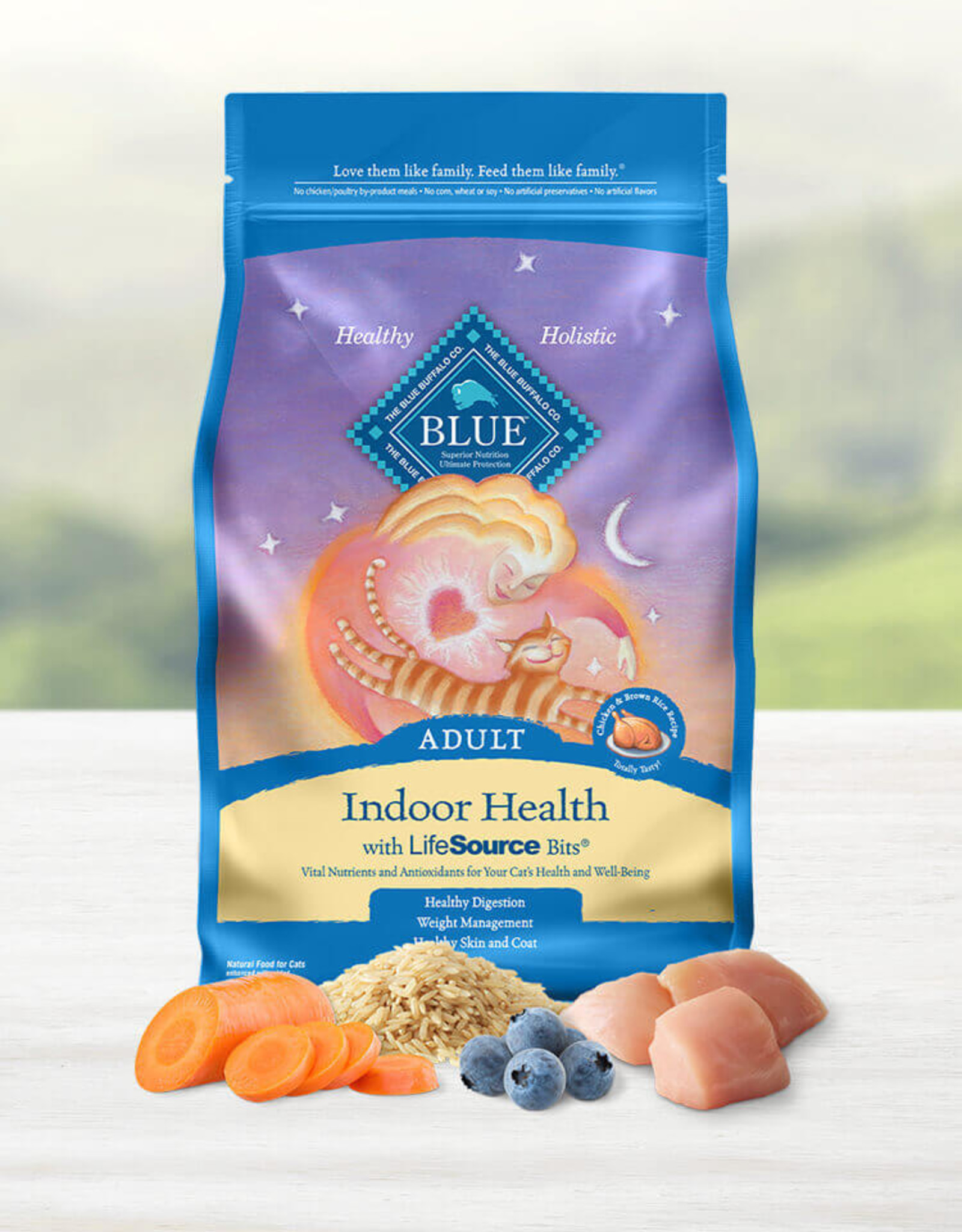 BLUE BUFFALO COMPANY BLUE BUFFALO CAT CHICKEN INDOOR 7LBS