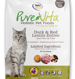 NUTRISOURCE NUTRISOURCE PURE VITA CAT DUCK & LENTILS 6.6LBS