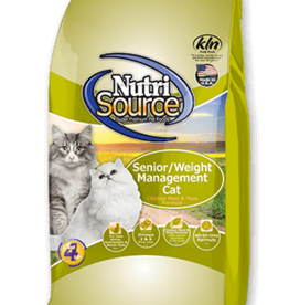NUTRISOURCE NUTRISOURCE CAT CHICKEN & RICE SENIOR/WEIGHT MANAGEMENT 6.6LBS