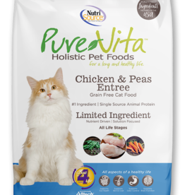 NUTRISOURCE NUTRISOURCE PURE VITA CAT CHICKEN & PEAS 6.6LBS
