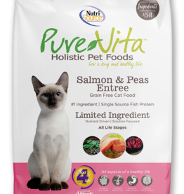 NUTRISOURCE NUTRISOURCE PURE VITA CAT SALMON & PEAS 15LBS
