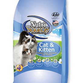 NUTRISOURCE NUTRISOURCE CAT & KITTEN CHICKEN SALMON & LIVER 6.6LBS
