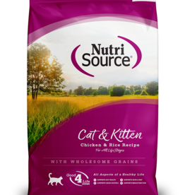 NUTRISOURCE NUTRISOURCE CAT & KITTEN CHICKEN & RICE 6.6LBS