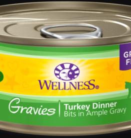 WELLPET LLC WELLNESS CAT CAN GRAVIES TURKEY 5.5OZ