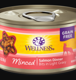WELLPET LLC WELLNESS CAT CAN MINCED SALMON 3OZ CASE OF 24