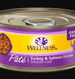 WELLPET LLC WELLNESS CAT CAN TURKEY & SALMON 3OZ