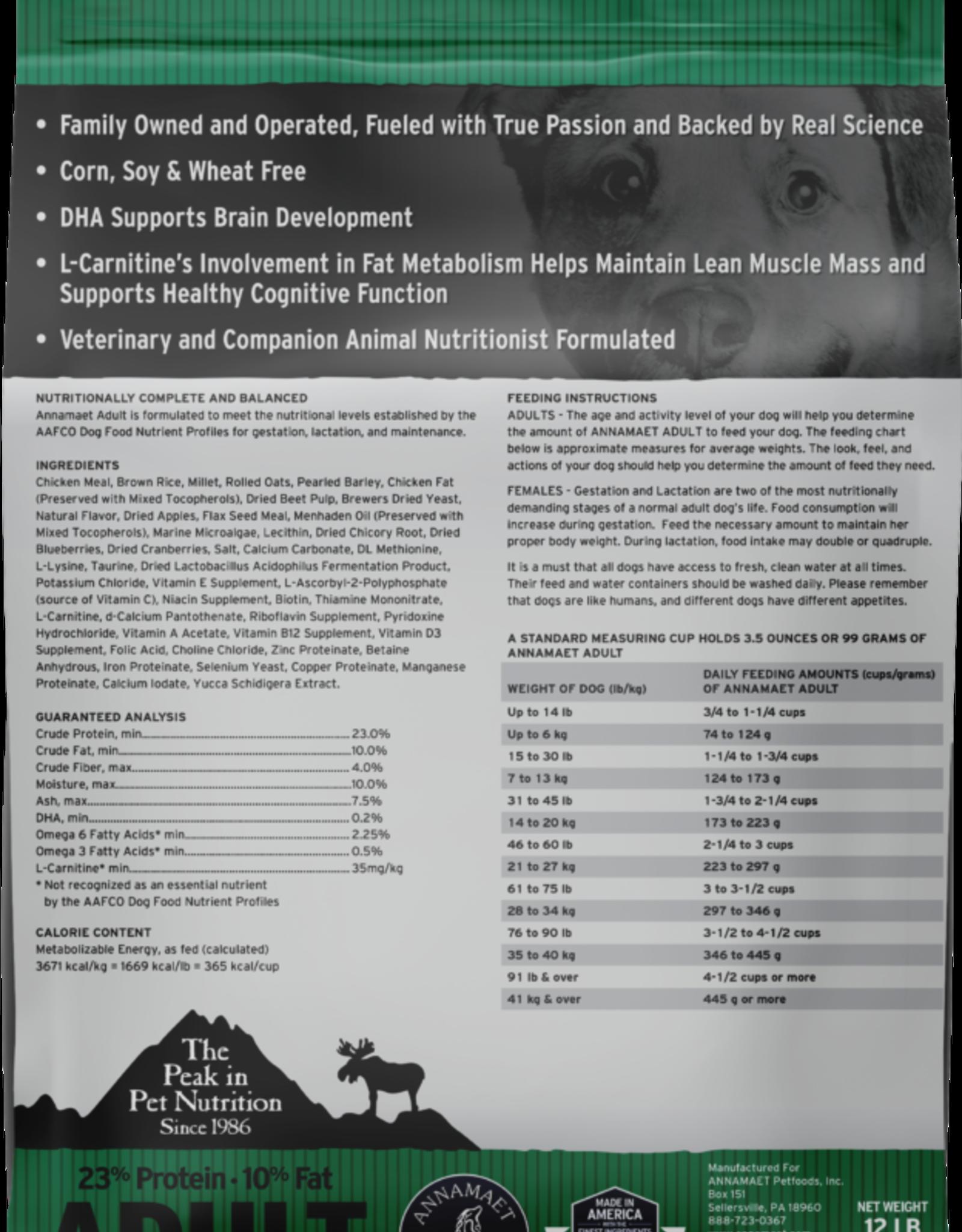 Annamaet ANNAMAET DOG ADULT 23% CHICKEN & RICE 12LBS