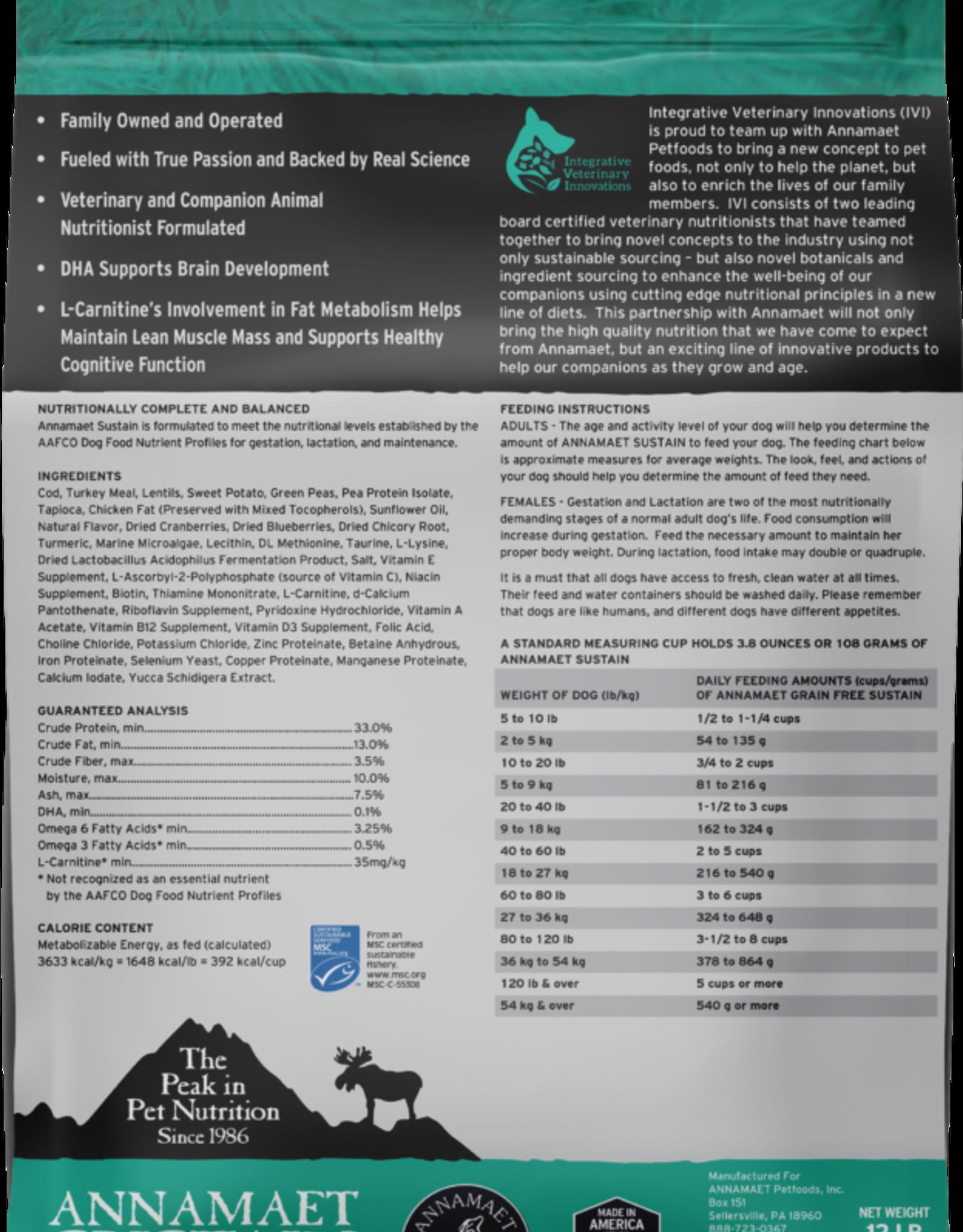 Annamaet ANNAMAET DOG GRAIN FREE SUSTAIN FISH 15LBS