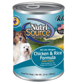 NUTRISOURCE NUTRISOURCE DOG CAN CHICKEN & RICE 13OZ