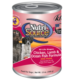 NUTRISOURCE NUTRISOURCE DOG CAN CHICKEN, LAMB & FISH 13OZ CASE OF 12