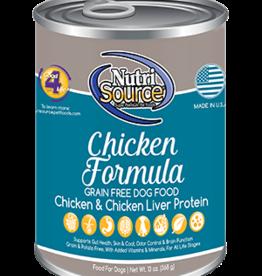 NUTRISOURCE NUTRISOURCE DOG CAN GRAIN FREE CHICKEN 13OZ CASE OF 12