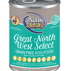 NUTRISOURCE NUTRISOURCE DOG CAN GRAIN FREE GREAT NORTHWEST SELECT 13OZ CASE OF 12