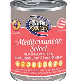 NUTRISOURCE NUTRISOURCE DOG CAN GRAIN FREE MEDITERRANEAN SELECT 13OZ