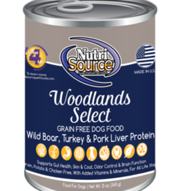 NUTRISOURCE NUTRISOURCE DOG CAN GRAIN FREE WOODLANDS SELECT 13OZ CAN