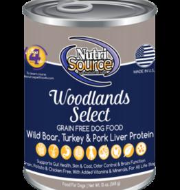NUTRISOURCE NUTRISOURCE DOG CAN GRAIN FREE WOODLANDS SELECT 13OZ CASE OF 12
