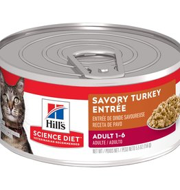 SCIENCE DIET HILL'S SCIENCE DIET FELINE CAN ADULT GOURMET TURKEY 5.5OZ CASE OF 24