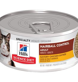SCIENCE DIET HILL'S SCIENCE DIET FELINE CAN ADULT HAIRBALL CHICKEN 2.9OZ