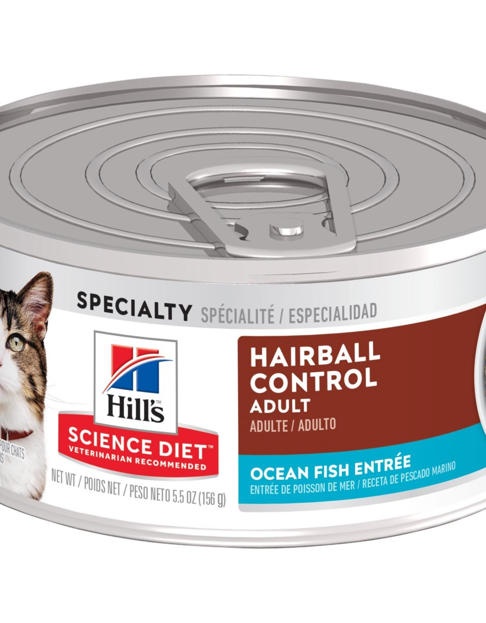 SCIENCE DIET HILL'S SCIENCE DIET FELINE CAN ADULT HAIRBALL SEAFOOD 5.5OZ CASE OF 24