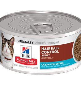 HILL'S HILL'S SCIENCE DIET FELINE CAN ADULT HAIRBALL SEAFOOD 5.5OZ CASE OF 24