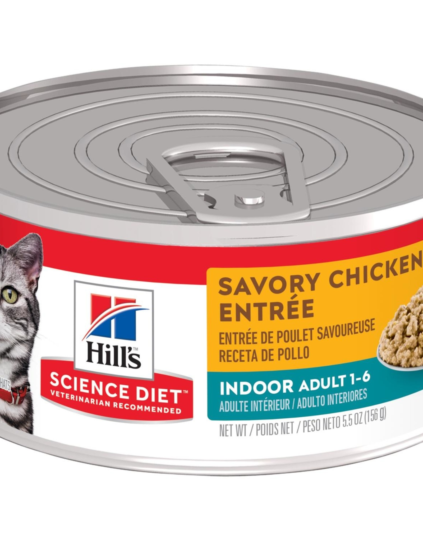 SCIENCE DIET HILL'S SCIENCE DIET FELINE CAN ADULT INDOOR SAVORY CHICKEN 5.5OZ