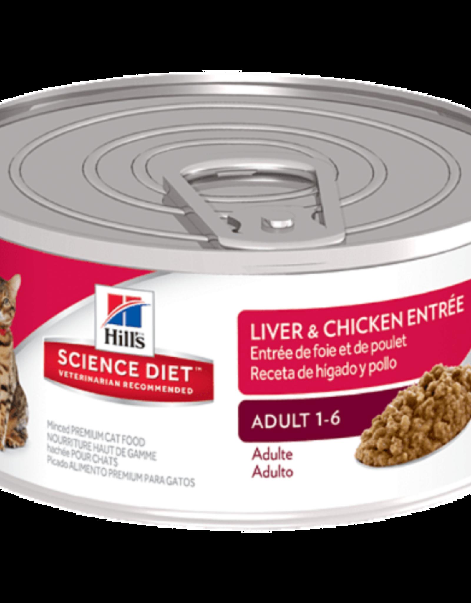 SCIENCE DIET HILL'S SCIENCE DIET FELINE CAN ADULT LIVER & CHICKEN 2.9OZ