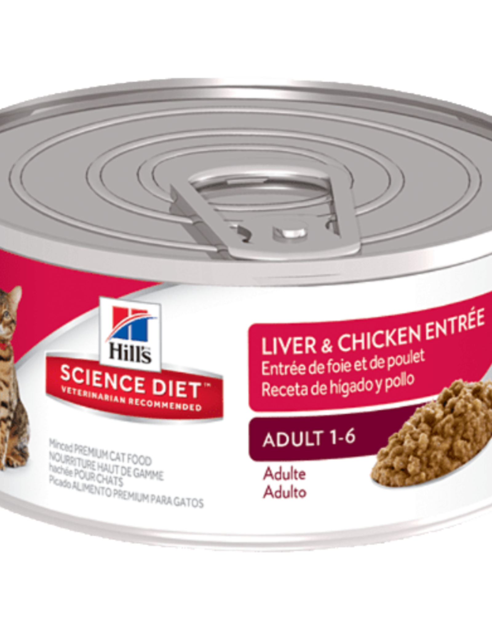 SCIENCE DIET HILL'S SCIENCE DIET FELINE CAN ADULT LIVER & CHICKEN 5.5OZ CASE OF 24
